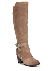 Fergie Total Leather Knee High Boots Taupe