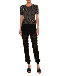 Missoni Space Dye Short Sleeve Sweater Black White Black White