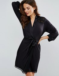 Ted Baker Signature Lace Jersey Wrap Black