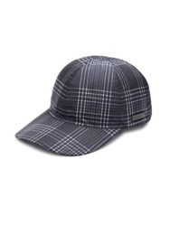 Prada Checkered Pattern Nylon Cap Navy