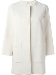 Vanessa Bruno Atha Round Neck Coat White