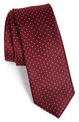 The Tie Bar Dot Silk Burgundy