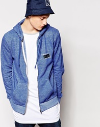 Firetrap Zip Through Hoodie Blue