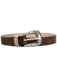 Eleventy Donna Texas Belt Brown