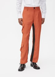 Wales Bonner 'S Cargo Pant In Rust Size 46 Viscose Linen Polyamide Gussets