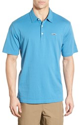 Men's Patagonia 'Trout Fitz Roy' Organic Cotton Polo Catalyst Blue