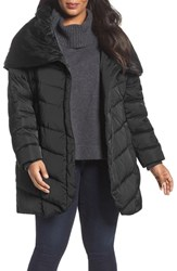 Tahari Plus Size Women's Matilda Shawl Collar Quilted Coat