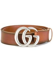 Gucci Interlocking Gg Buckle Belt Brown