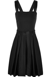 Band Of Outsiders Crepe And Brushed Satin Mini Dress