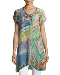 Johnny Was Alyssa Short Sleeve Printed Tunic Women's