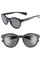 Polaroid 52Mm Polarized Round Sunglasses Matte Black