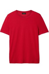 Akris Cashmere And Silk Blend Top Red