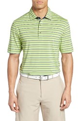 Bobby Jones Men's Xh20 Coney Stripe Stretch Golf Polo Mint Julep