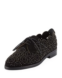 Alaia Laser Cut Studded Loafers Black