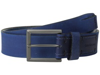 Calvin Klein 38Mm Flat Strap Smooth Matte Leather Harness Buckle Persian Blue Men's Belts