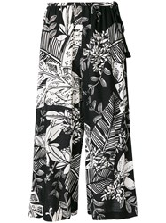 See By Chloe Floral Wide Leg Culottes Black