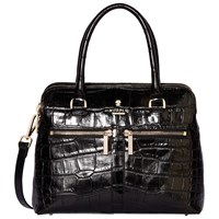 Modalu Pippa Mini Leather Grab Bag Black Croc