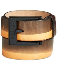 Buffalo David Bitton Ombre Leather Belt Tan
