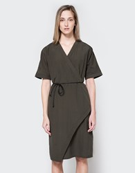Hope Ease Dress Khaki Green