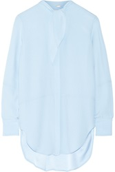 Adam By Adam Lippes Crepe Blouse Blue