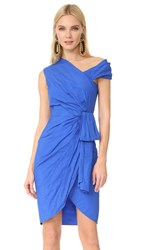 Moschino One Shoulder Dress Blue