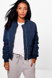 Boohoo Bella Quilted Bomber Navy