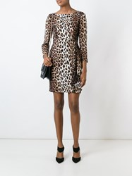Boutique Moschino Leopard Print Dress Brown