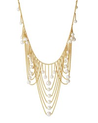 Prince Dimitri For Assael 18K Draped Chain Pearl Bib Necklace Women's