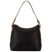 John Lewis Becky Shoulder Bag Black Tan