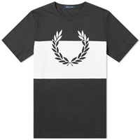 Fred Perry Authentic Printed Laurel Tee Black