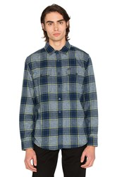 Obey Wilcox Button Down Navy