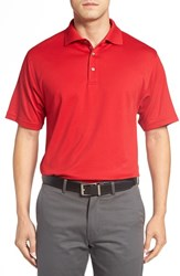 Bobby Jones Men's Solid Pima Cotton Jersey Polo Rio Red