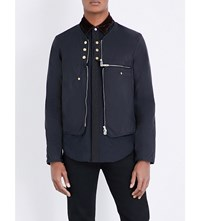 The Soloist Collarless Button Detailed Shell Jacket Black