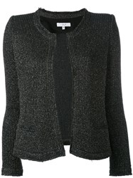 Iro Metallic Knit Cardigan Women Cotton Polyamide Polyester Other Fibers 40 Black