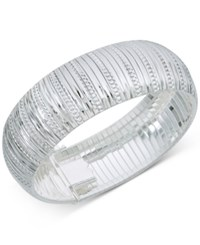 Giani Bernini Wide Textured Bangle Bracelet In Sterling Silver Created For Macy's