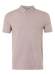 Topman Selected Homme Dark Pink Woven Polo Shirt