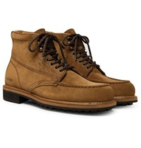 Tom Ford Cromwell Suede Boots Brown
