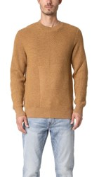 Levi's Made And Crafted Pieced Sweater Camel