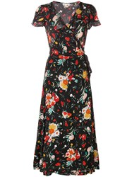 Lily And Lionel 30'S Floral Trixie Dress Black