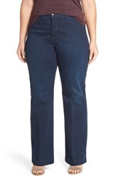 Nydj Plus Size Women's 'Addison' Stretch Wide Leg Jeans Verdun