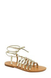 Women's Lucky Brand 'Colette' Gladiator Sandal Light Gold Suede