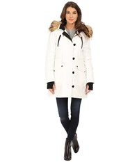 Jessica Simpson Polybonded With Faux Fur White Women's Clothing