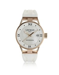 Locman Montecristo Rose Gold Pvd Stainless Steel And Titanium Women's Watch White