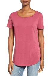 Halogenr Women's Halogen High Low Tee Burgundy Beauty
