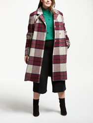 Junarose Stampi Check Coat Oatmeal Red