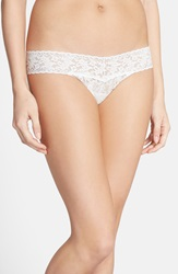 Hanky Panky 'Pearl' Low Rise Thong Light Ivory