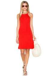 Michael Stars 2X1 Rib Cami Tank Dress Red
