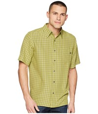 Marmot Eldridge S S Wheatgrass Short Sleeve Button Up Green