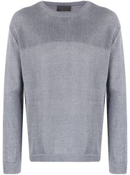 Iris Von Arnim Knit Crew Neck Jumper Blue