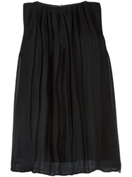 Etro Pleated Tank Top Black